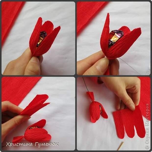 Мастер-класс Свит-дизайн Бумагопластика Цветы  как я их делаю  Бумага гофрированная фото 6