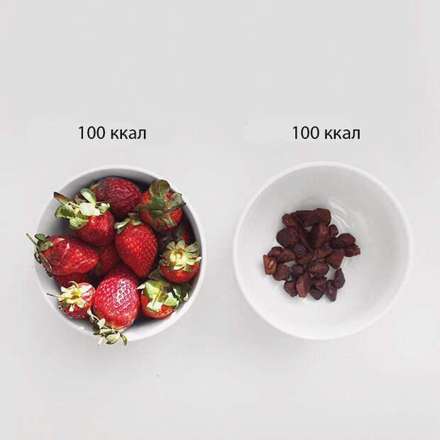 Амнистия чипсов: блогер наглядно показала, что у здоровой и вредной еды одна калорийность