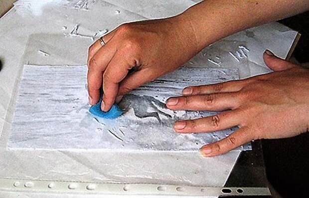 Как убрать лишний слой бумаги. Фото Светланы Зениной