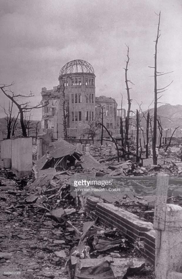 Последствия атомного взрыва в Японии.