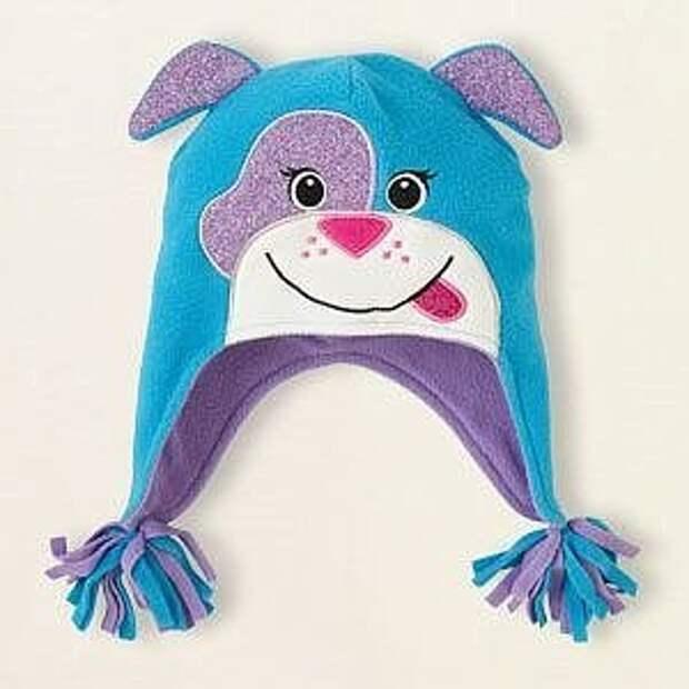 Идеи детских шапочек из флиса
