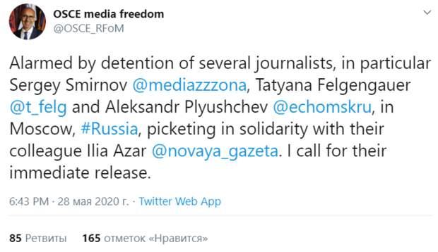 Комиссия по вмешательству должна обратить внимание на интерес ЕС к аресту Азара