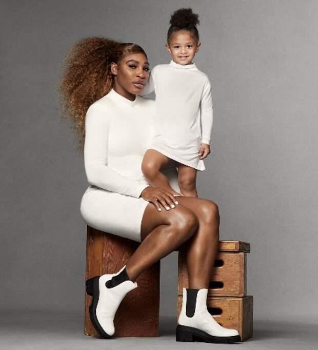 Модный дебют: дочь Серены Уильямс в первой фотосессии для обувного бренда