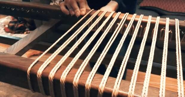 Оригинальная и удобная скамья из джута, своими руками