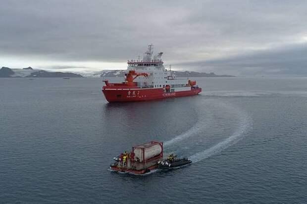 Китайский «Снежный дракон» вернулся из Антарктики