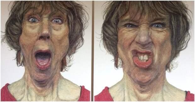 Деменция в стежках: невероятные вышитые картины талантливой художницы