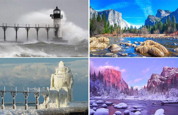 Пейзажи, на которых зима всё преобразила