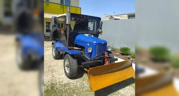 Забавный самодельный трактор из деталей от отечественных автомобилей