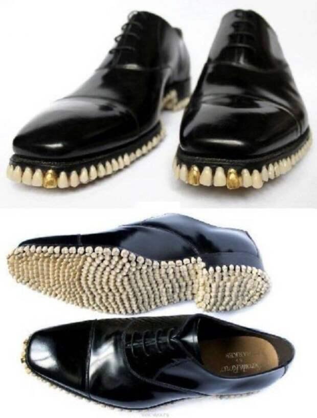 Туфли из зубов