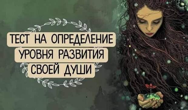 ТЕСТ НА ОПРЕДЕЛЕНИЕ УРОВНЯ РАЗВИТИЯ СВОЕЙ ДУШИ.