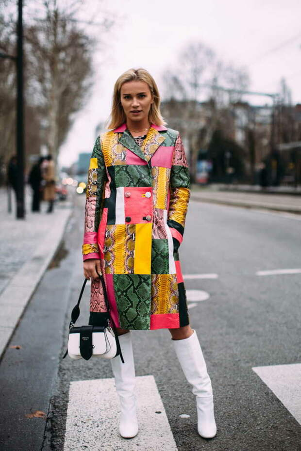 Модный пэчворк: Как его носят модницы со всего мира