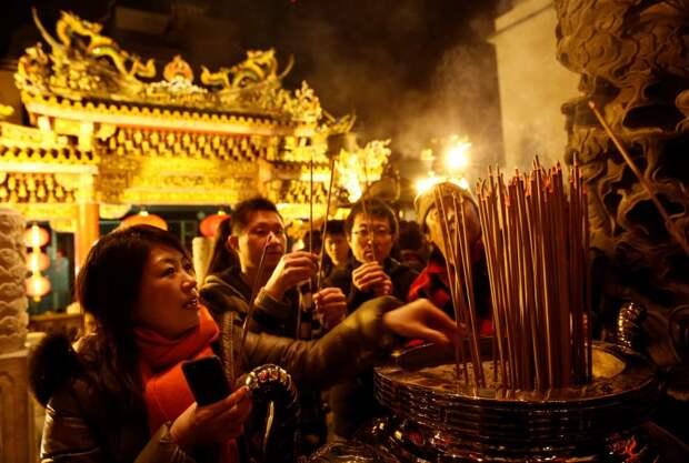 Как в странах Азии отпраздновали Китайский Новый год