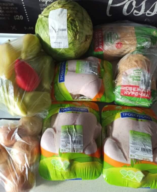 Купила 5 тушек куриц и овощи. Наделала кучу полуфабрикатов: забила морозилку, будем месяц есть