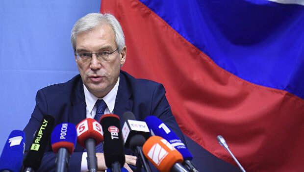 Постоянный представитель Российской Федерации при НАТО Александр Грушко. Архивное фото