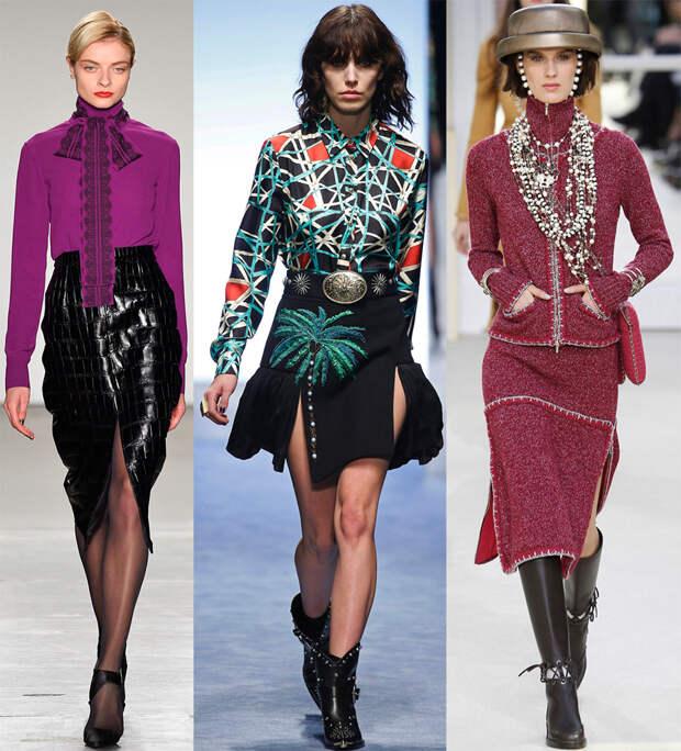 Модные юбки с разрезами