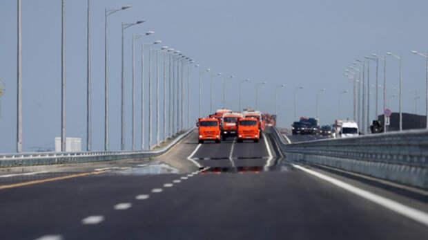 По Крымскому мосту проехало 1,5 миллиона грузовых автомобилей
