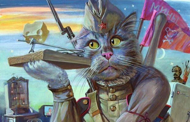 Было решено завезти в Ленинград котов.  Фото: ok.ru.