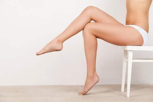 8. Отбеливать кожу на ногах