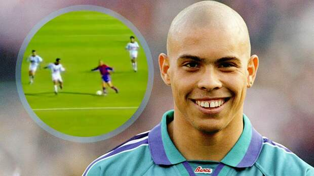 Один из самых красивых голов Роналдо забил за «Барселону». Пробежал с мячом полполя и накрутил троих: видео