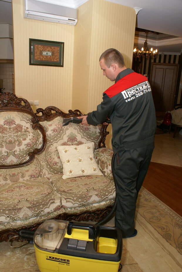 Уборка после ремонта. Часть 4. Химчистка мягкой мебели.