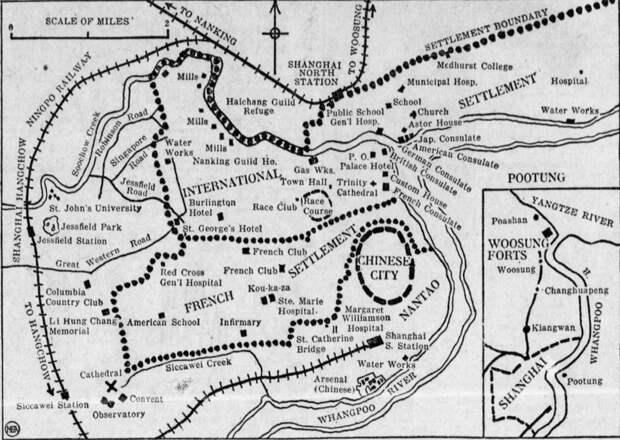 Карта Шанхая, 1932 год chinarhyming.com - Шанхай-1932: проба сил перед большой войной   Военно-исторический портал Warspot.ru