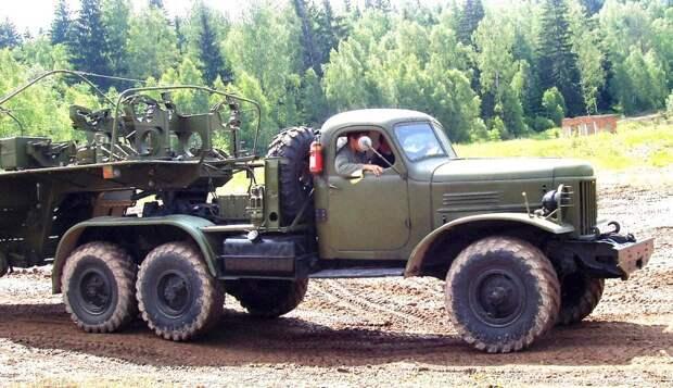Специальный седельный тягач ЗИЛ-157КВ-1 с отбором мощности на полуприцеп авто, автопоезд