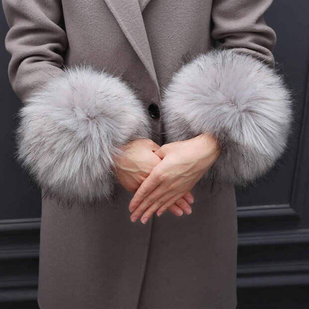 Женские манжеты на запястье из искусственного меха, меховые манжеты на  запястье для шерстяных пальто и курток, зимние меховые повязки на руку из  меха лисы, теплые меховые браслеты - Aliexpress