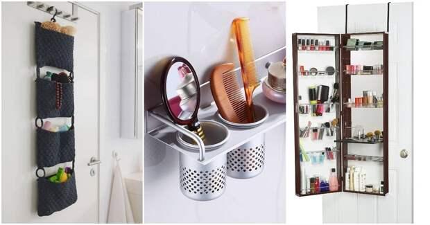 Умные идеи для хранения в маленькой ванной