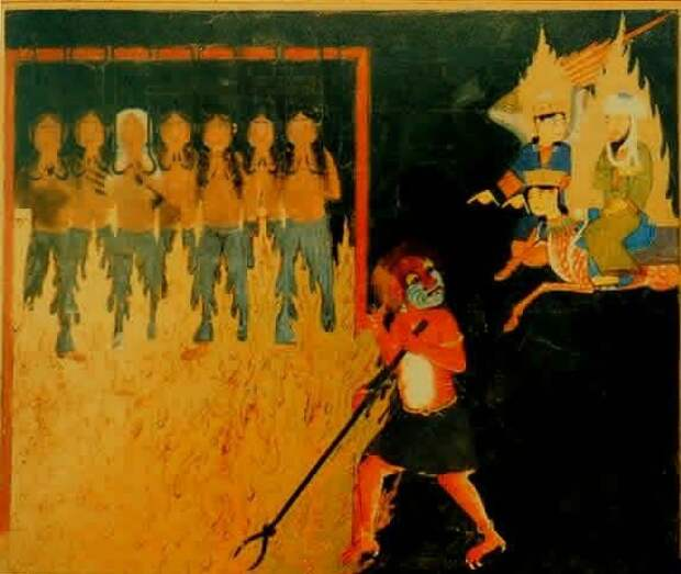 Пророк Мухаммад в аду видит муки женщин, изменявших мужьям