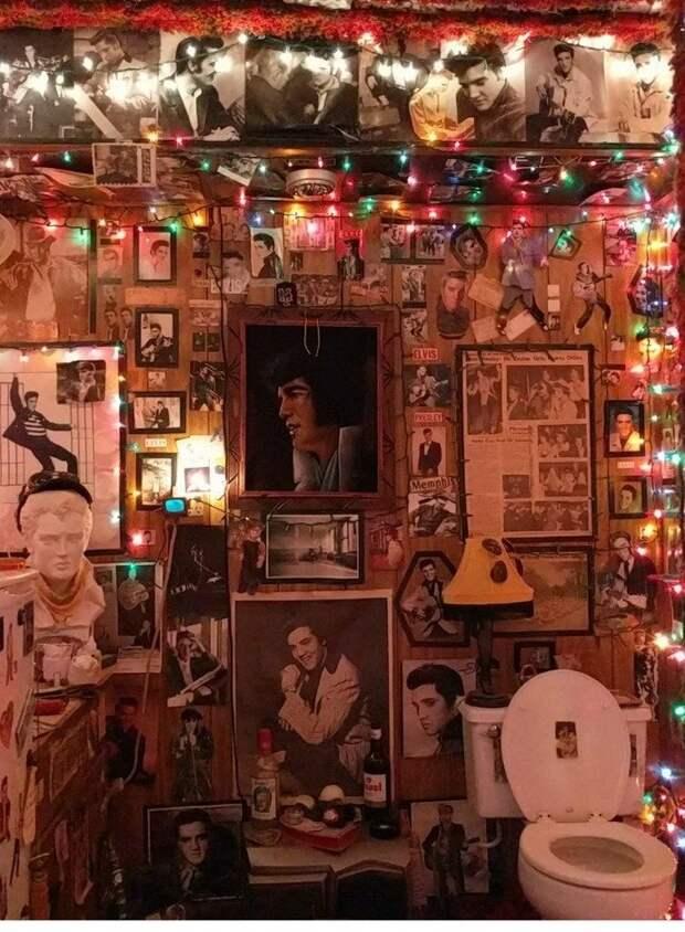 В этом туалете Элвис жив! необычные вкусы, отцы и дети, родители, родительский дом, смешно, странные вещи, что это такое: загадочные предметы, юмор