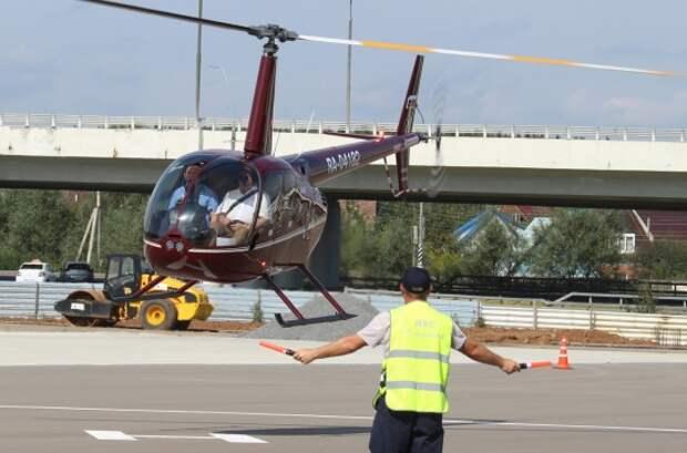 В аэропорту Внуково состоялся первый технический рейс на новый вертодром