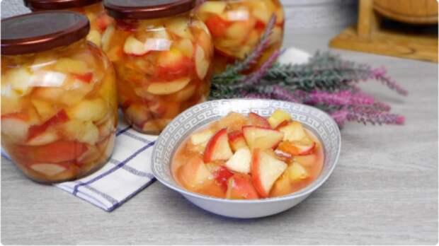 Теперь яблоки заготавливаю только таким способом: готовятся 5 минут. Вкусней, чем варенье!