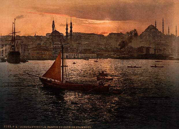 Цветные открытки Константинополя 17