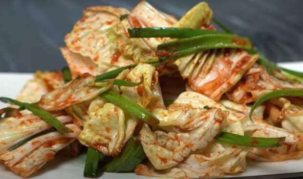 Салат «Кимчи» за 3 минуты без мариновки