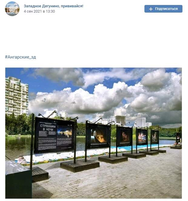 Фото дня: новая выставка на Ангарских прудах