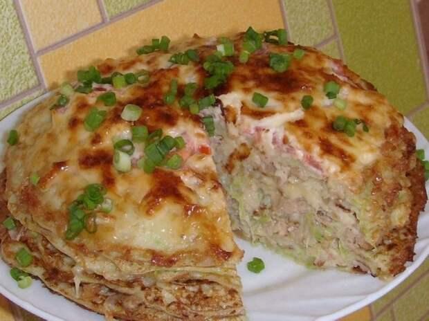 Кабачково-сырный ТОРТИК с мясом — сезонная закуска для любого застолья
