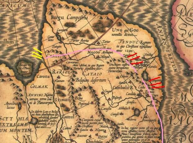 Фрагмент старой карты - сравните отметки