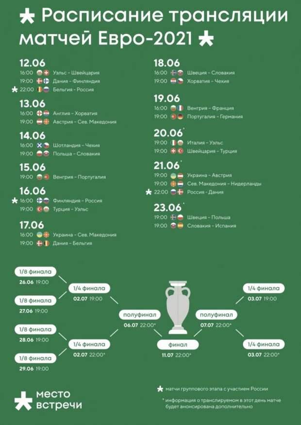 Посетители «Рассвета» увидят матчи чемпионата Европы на большом экране