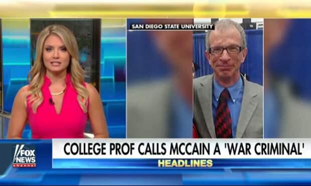 Профессор Университета Сан-Диего назвал сенатора Маккейна военным преступником