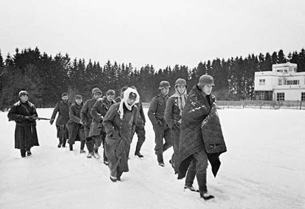 Пленные немцы в Подмосковье