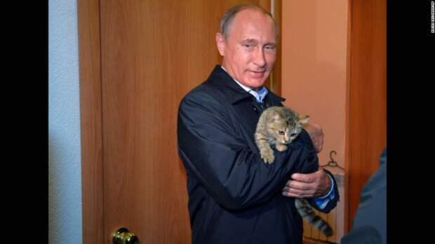 Путин с котом