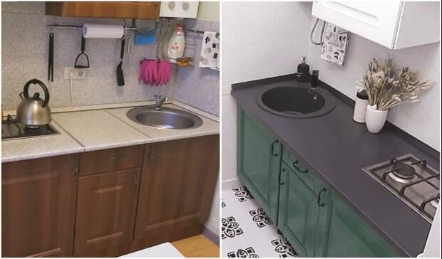 Преображение унылой кухни площадью 5 кв. м за неделю: бюджетно, быстро, современно