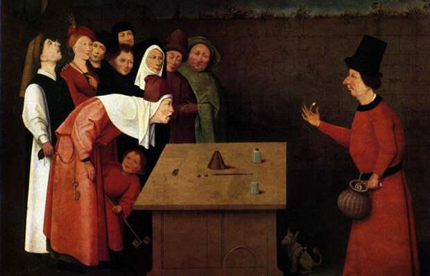 Какие человеческие пороки скрыты в деталях картины Иеронима Босха «Фокусник»