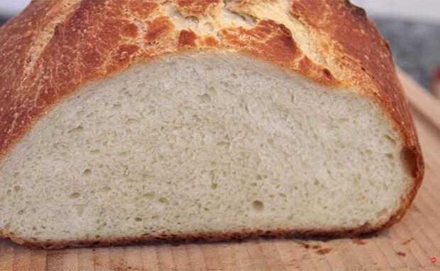 Хлеб на кефире за 5 минут чистого времени работы: тесто не замешивали, дошло само