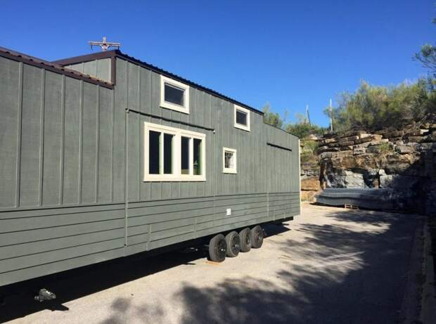 Само жилище построено на базе трейлера дом, жилье, идея, строитель, трейлер, фото