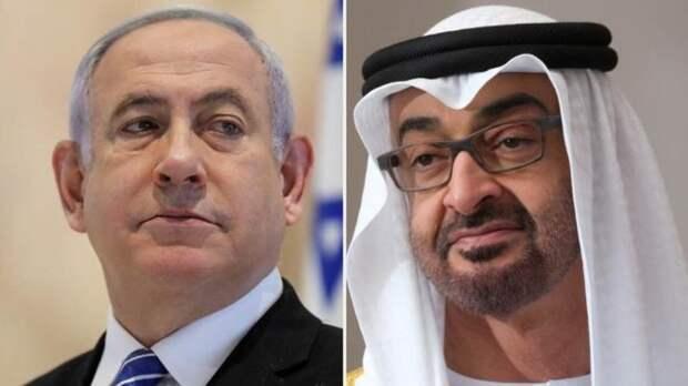 Биньямин Нетаньяху и кронпринц Мохаммед бин-Зайед аль-Нахьян