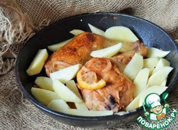 Курица с картофелем Чайная церемония Лук репчатый