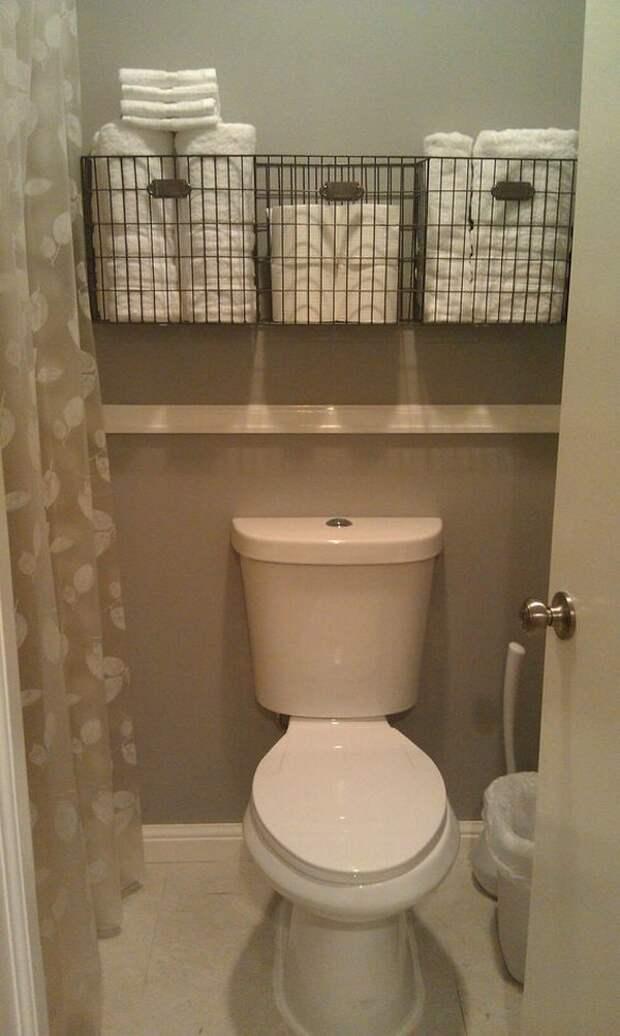 21 уникальная идея хранить больше вещей даже в маленьком туалете