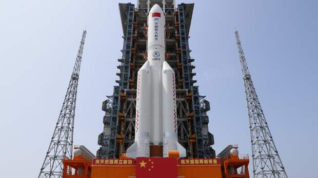 Ступень ракеты-носителя КНР вошла в атмосферу Земли над Индийским океаном