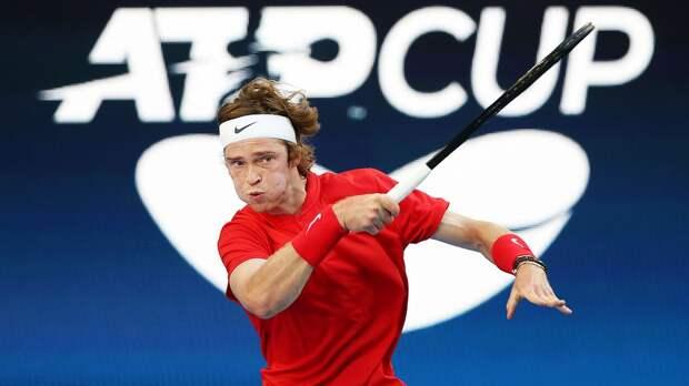 Победа Рублева над Штруффом позволила России повести в счете с Германией в полуфинале ATP Cup